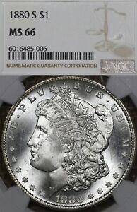 1880-S $1 NGC MS66 Morgan Silver Dollar, White