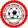 Personalised Football stickers For Sweet Cones etc, 3 Sizes - Ref MX03-12