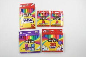 Cra-Z-Art Kids School Supplies Non-Toxic Markers Jumbo Crayons Assorted 56 Ct