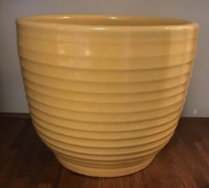 "Vintage Large #10 Bauer Pottery Ringware Yellow Planter Vase Pot 10"" x 12"""