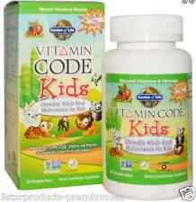 NEW GARDEN OF LIFE VITAMIN CODE KIDS CHEWABLE WHOLE FOOD MULTIVITAMIN FOR KIDS