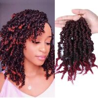 10Inch Ombre Spring Twist Braids Crochet Pre-twisted Braid Curly Hair Extensions