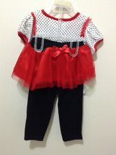 Nwt Girls  Outfit - Tutu Leggings and Top - Set  2pc  24 Months New Lady Bug