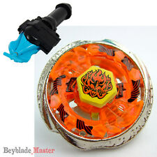 Fusion METAL Beyblade Masters BB-59 Burn Phoenix+BLUE STRING LAUNCHER+GRIP