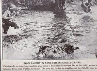 Dead German in Schleuse River Waldau Germany WWII Dispatch Photo News Service