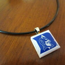 DUKE UNIVERSITY BLUE DEVILS LOGO TILE CHARM PENDANT NECKLACE LifeTiles jewelry