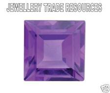 Natural Amethyst Square Princess 4mm x 4mm Gem Gemstone