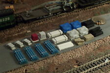 20 pc N Scale Details Pipes Bricks, Lumber and more D