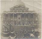 GAR ENCAMPMENT PHOTO ~ BOSTON STATE HOUSE ~ FLAGS & LARGE MEMBERSHIP BADGE