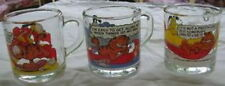 3 McDonalds Glass Garfield Mugs 1978
