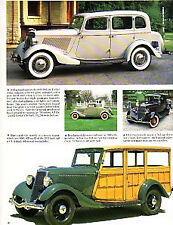 1934 Ford Fordor + Coupe + Woody Wagon Article - Must See !!
