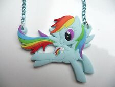 My Little Pony Light Blue Rainbow Dash necklace