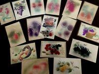 Lot of 17 Fruit~Fruits~Embossed Airbrushed~Vintage~Greetings Postcards-b573