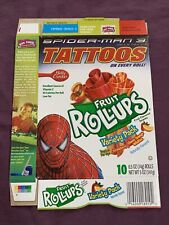 Spider-Man Movie Betty Crocker Fruit Roll Ups Empty Candy Box Only