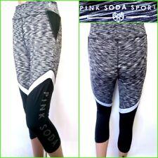 b55d6a23bf113 PINK SODA UK8 WOMENS BLACK MIX LEGGINGS ACTIVEWEAR BOTTOMS GYM FITNESS SPORT   17