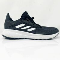 Adidas Womens Duramo 9 F35281 Black Running Shoes Lace Up Low Top Size 9