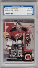 MARTIN BRODEUR NO:195 in DONRUSS 1993-94 graded PGS 9 MINT