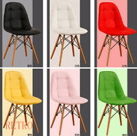 4 x Retro Eiffel  style Dining/Kitchen/Office  leather Chair  Designer DSW .0