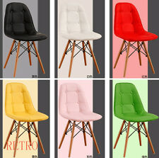 Retro Eiffel  style Dining/Kitchen/Office  leather Chair  Designer