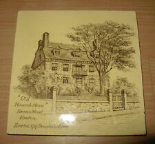 Antique Tile Mintons Minton Old Hancock Manor House Boston MA