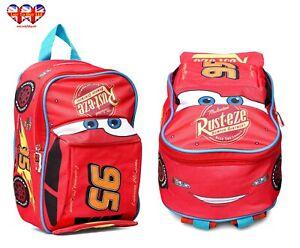 Disney Cars Pixar 3D Children's Lunch Bag,Preschool Backpack, Official Licensed