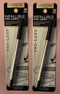 (2) L'oreal Infallible Pro Last Waterproof Pencil Eyeliner # 880 Silver Argent