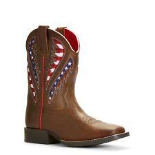 Ariat Kid's Quickdraw VentTEK American Flag Western Boots 10027304 NIB