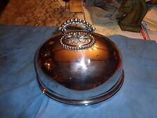 "Antique   Mappin & Webb ""Princes' Plat""Victorian Silver Plate Meat Cover Dome"