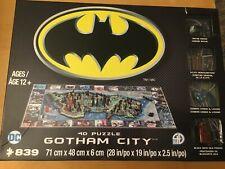 4D PUZZLE BATMAN GOTHAM CITY 833 PIECES, NEW / SEALED