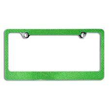 Popular 7 Row Green Crystal License Plate Frame/Cap/DD4