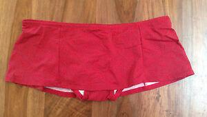 New Ann Taylor LOFT Floral Red Lined Nylon Bikini Bottom Swim Skirt M L XL