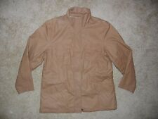LANDS END Brown Cotton CANVAS JACKET Warm Winter Coat Size Women's LARGE Nice!