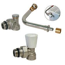 KIT raccordement radiateur avec robinet manuel - PER glissement Ø10x12