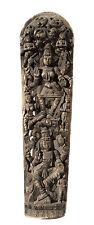 """Ancien Panneau bois sculpté statue hindoue Lakshmi 181 cm-71"""" Nepal-Inde"""
