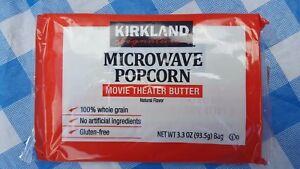 Kirkland Microwave Popcorn Theater Butter 3.3 oz 1 - 44 Bags EXP Jan 2022