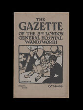 GAZETTE of the THIRD (3rd) LONDON GENERAL HOSPITAL August 1918, 28 page Magazine