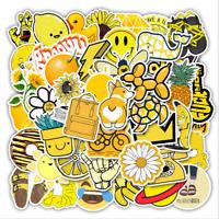 50 Yellow Cartoon Luggage Laptop Suitcase Waterproof Sticker Notebook DIY Decals