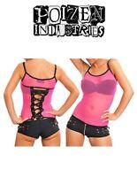 Poizen X Nett Vest Pink Ladies Goth cyber punk S M L UK 8 - 10 -12