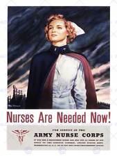 Guerra di propaganda Seconda Guerra Mondiale USA conquistare ESERCITO INFERMIERA CORPS ART PRINT posterbb8270b