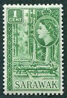 SARAWAK 1957 1c green SG188 mint MH FG Logging d #W12