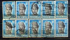 10 Malaysia 1961 King Old ytamps