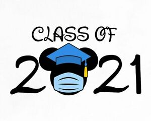 DISNEY MICKEY MOUSE GRADUATION CLASS OF 2021  T-SHIRT IRON ON TRANSFER