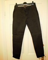 ZARA MAN Denim Couture Olive GreenTrousers  with Zipped Back Pockets 30R