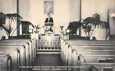 Millersville Pennsylvania Congregational Church Interior Antique Postcard K40854