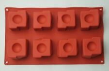 8 Cavity Silicone Square Half Circle Cake Pan Brownie Treat Cupcake Mousse Mold