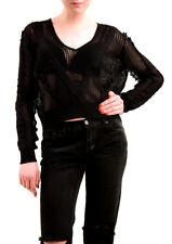 Wildfox Damen NBW Beach Cotton Strickpullover Schwarz Größe M UVP 175 £ BCF75