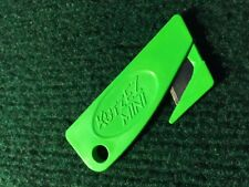 NEW KutzEZ GREEN safety box cutter knife ; boxes are easy to cut; for key chain