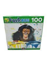 """Puzzlebug Jigsaw - 100 Piece """"CHIMPY"""" 8.75"""" x 11.25"""" Family Fun New"""