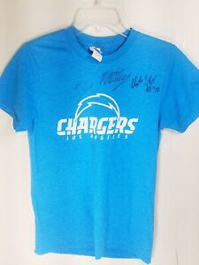 NFL Los Angeles Chargers Crew Neck Tshirt Tee Short-Sleeve  Small  Autographed