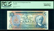 1972 $5 BC-48aA, Bouey-Rasminsky, *CA Prefix, PCGS Certified Choice AU58